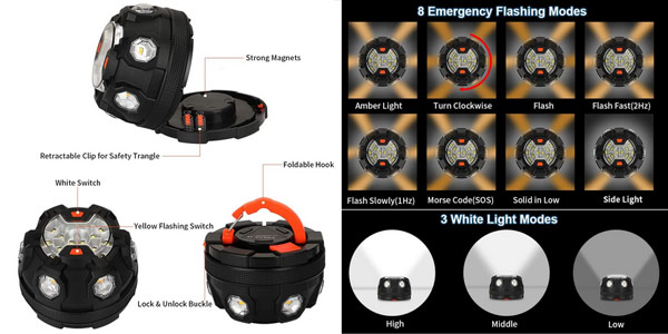 Comprar Faro LED de emergencia para el coche chollo en AliExpress