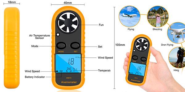 Mini anemómetro GM816 barato