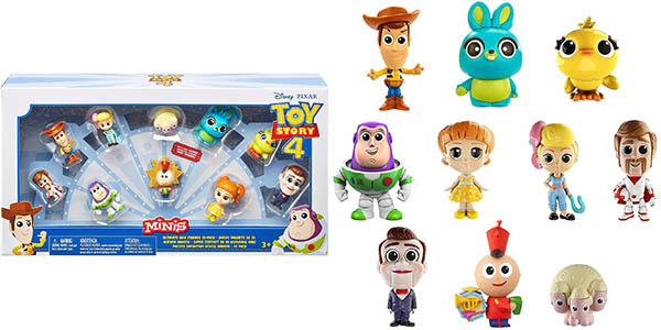 Pack de 10 Mini figuras de Toy Story 4 Disney