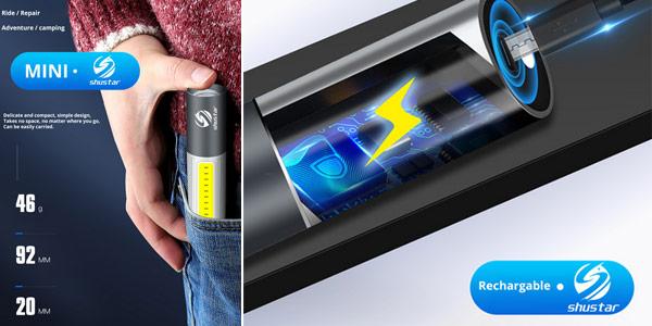 Mini linterna LED recargable Shustar S211 oferta en AliExpress
