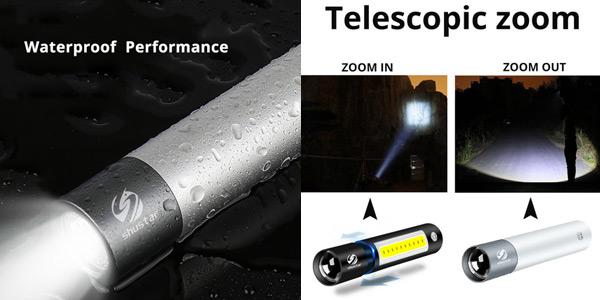 Mini linterna LED recargable Shustar S211 chollo en AliExpress