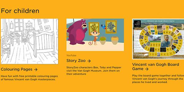 Museo Van Gogh actividades infantiles gratuitas