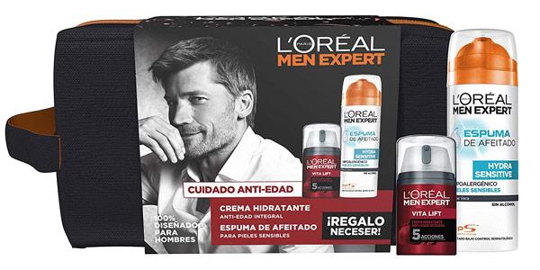 Neceser Cuidado Antiedad Vitalif L'Oreal Paris Men Expert barato en Amazon