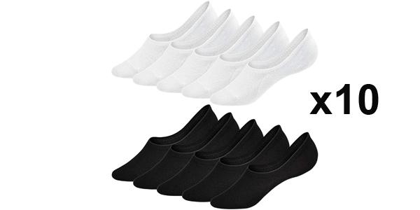 Pack x10 Pares de Calcetines invisibles Umipubo para mujer baratos en Amazon