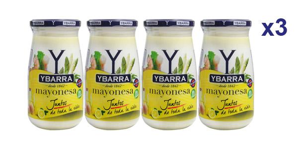 Pack x12 botes Mayonesa Ybarra de 450 ml/ud barato en Amazon
