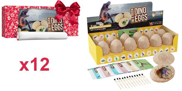 Pack 12 Huevos de Dinosaurio Únicos barato en Amazon