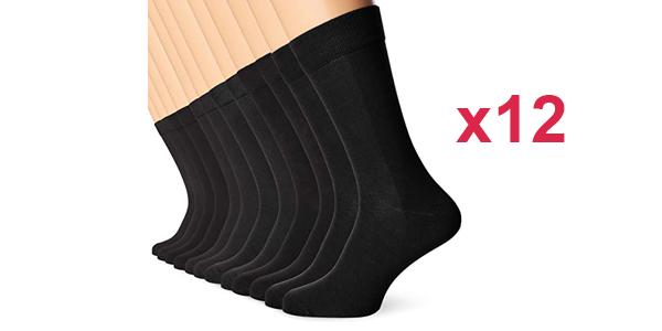 Pack x12 pares de calcetines FM London Bamboo baratos en Amazon