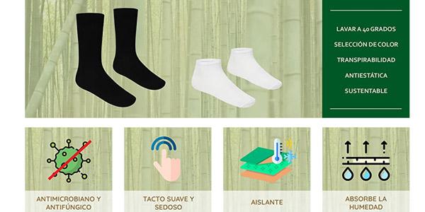 Pack x12 pares de calcetines FM London Bamboo chollo en Amazon