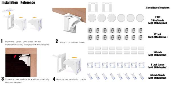 Pack x16 cerraduras invisibles magnéticas Balfer chollo en Amazon