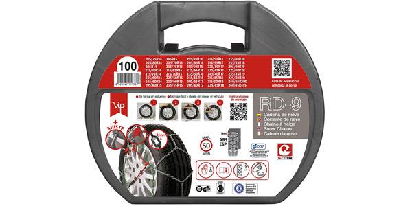 Pack x2 Cadenas de Nieve Metálicas RD9 de 9 mm Talla 100 con Guantes Incluidos chollo en Amazon