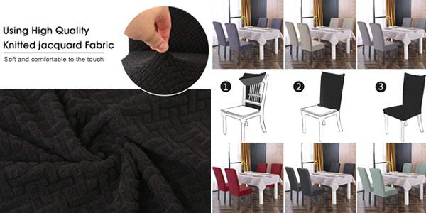 Set x2 Fundas elásticas para sillas O'woda chollo en Amazon
