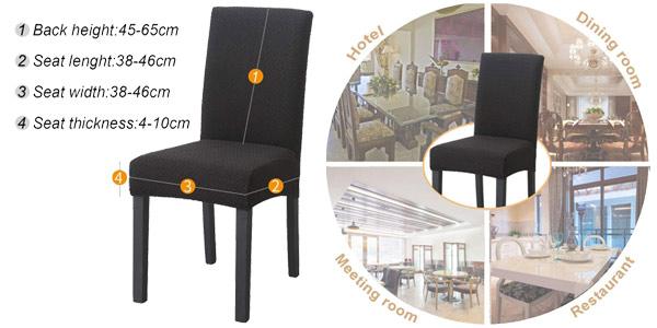 Set x2 Fundas elásticas para sillas O'woda oferta en Amazon