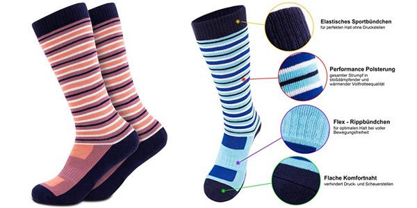 Pack x2 Pares de Calcetines Térmicos de Esquí Occulto para Niños y Niñas oferta en Amazon