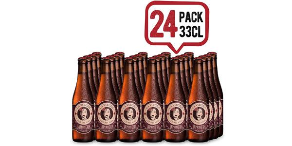 Pack x24 botellas La Virgen Cerveza Artesana Jamonera de 330 ml barato en Amazon