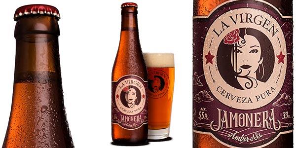Pack x24 botellas La Virgen Cerveza Artesana Jamonera de 330 ml chollo en Amazon
