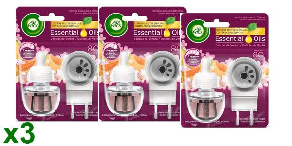 Pack x3 Air Wick ambientador eléctrico completo + recarga delicias de verano barato en Amazon