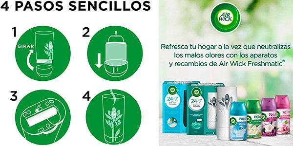 Pack de 3 ambientadores Air Wick Freshmatic + recambio barato