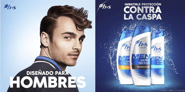 Pack x3 Head & Shoulders Men Ultra Prevención Caída Champú Anticaspa 300 ml/ud chollo en Amazon