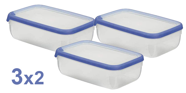 Pack x3 Botes Herméticos Curver Grand Chef de 4L (28 x 18 x 7,4 cm) baratos en Amazon