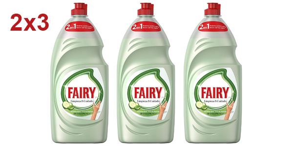 Pack x3 Fairy Limpieza y Cuidado aloe vera y pepino de 1.015 ml/ud barato en Amazon