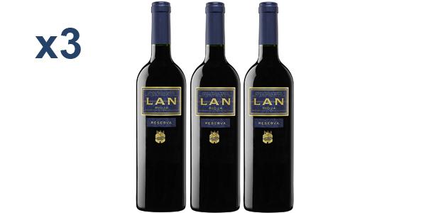 Pack x3 Vino tinto LAN Reserva D.O.Ca.Rioja de 750 ml barato en Amazon