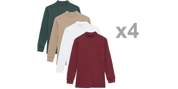 Pack x4 camisetas térmicas infantiles Channo baratas en Amazon