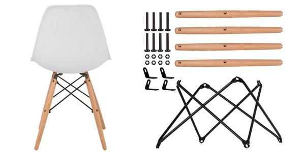 Conjunto 4 sillas Sklum Brich Scand de estilo nórdico barato