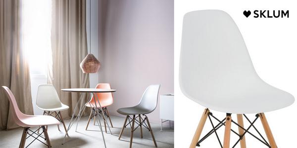 Conjunto 4 sillas Sklum Brich Scand de estilo nórdico en AliExpress