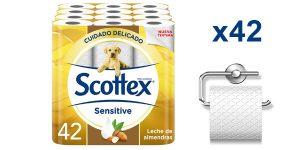 Pack x42 rollos Papel Higiénico Scottex Sensitive barato en Amazon