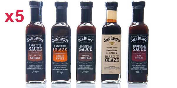 Pack x5 Salsas Barbacoa Jack Daniel's barato en Amazon