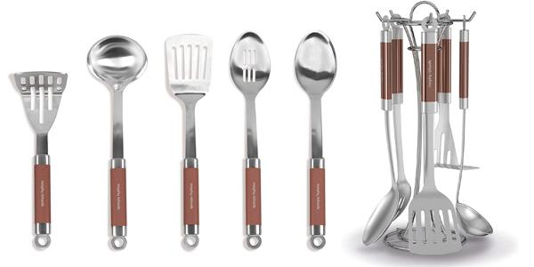 Set de 5 Utensilios de cocina Morphy Richards de acero inoxidable barato en Amazon