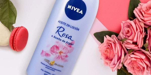 Pack x6 Aceite en Loción Nivea Rosa & Aceite de Argán de 400 ml/ud chollo en Amazon