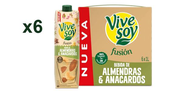 Pack x6 Vivesoy Fusión Almendra y Anacardo de 1L/ud barato en Amazon
