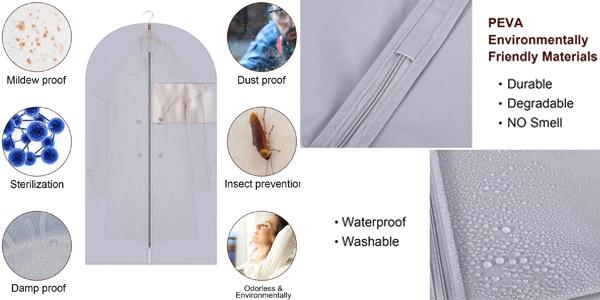 Pack x6 Fundas de Ropa Gikpal para chaquetas, abrigos y vestidos chollo en Amazon