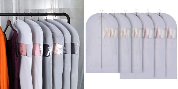 Pack x6 Fundas de Ropa Gikpal para chaquetas, abrigos y vestidos barato en Amazon