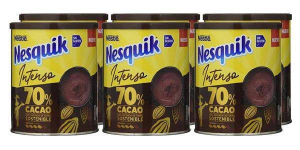 Pack x6 botes Nestlé Nesquik Intenso 70% Cacao de 300g/ud barato en Amazon