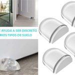 Pack x6 topes transparentes y adhesivos para puertas Aywne baratos en Amazon