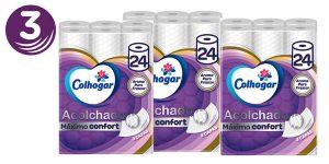 Pack x3 Colhogar Papel Higiénico Acolchado con 3x2 (72 Rollos) barato en Amazon