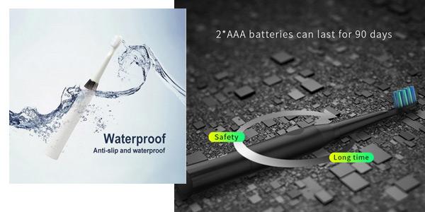 Pack Cepillo de dientes eléctrico Seago con 2 cabezales chollo en AliExpress