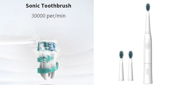 Pack Cepillo de dientes eléctrico Seago con 2 cabezales barato en AliExpress