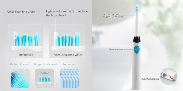 Pack Cepillo de dientes eléctrico Seago con 2 cabezales oferta en AliExpress