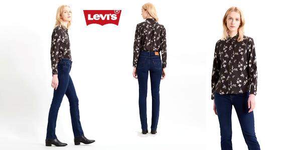 Pantalones vaqueros Levi's 724 High Rise Straight para mujer chollazo en Amazon