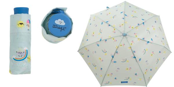 Paraguas plegable mini Mr. Wonderful Mint Estampado ArcoÍris barato en Amazon