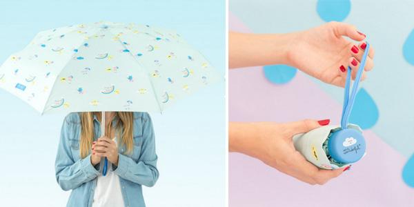Paraguas plegable mini Mr. Wonderful Mint Estampado ArcoÍris chollo en Amazon