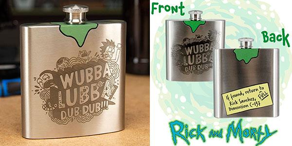 Chollo Petaca metálica Rick & Morty de 177 ml