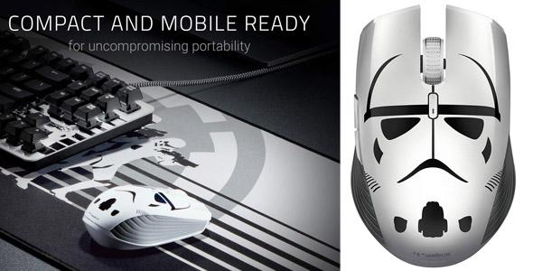 Ratón gaming inalámbrico Razer Atheris Stormtrooper Edition 7200 DPI, 350 horas de batería barato en Amazon