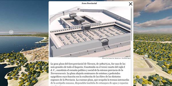 recorrido virtual por la Tarraco romana gratuito