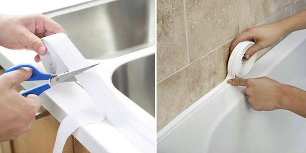 Cinta de sellado para baño de PVC autoadhesiva oferta en AliExpress