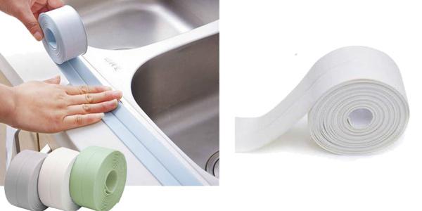 Cinta de sellado para baño de PVC autoadhesiva barata en AliExpress