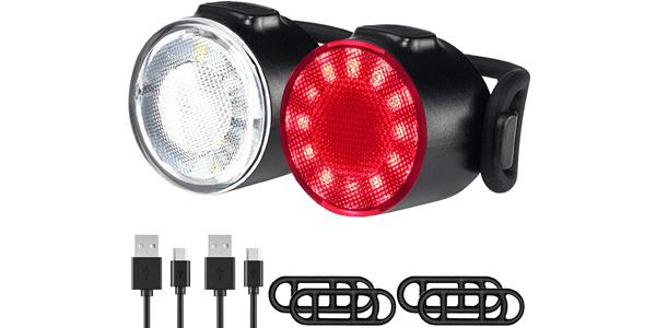 Luces Bicicleta LED Recargable USB MOGZZi baratas en Amazon